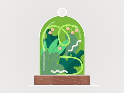 Greenhouse plants care 🌺 plant care flower illustration product design plant illustration bio leaf darkcube drawing vector digitalart wildlife terrarium greenhouse flat illustration texture plant