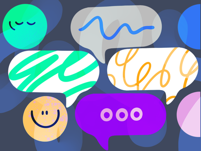 Teamwork messages 💬 drawing 2d brainstorming emoji teamwork messanger message custom branding vector darkcube digitalart illustration