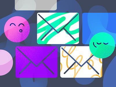 Email and Marketing ✉️ icon draw drawing process teamwork copywriting marketing email emoji pattern drawing custom vector 2d darkcube design charachter digitalart illustration