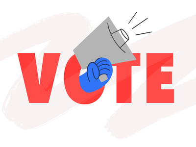 Vote 🗳 voice amplifier united govote pattern drawing design vector charachter darkcube 2d digitalart vote illustration