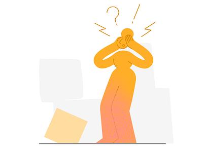 404 Error 📦 http dropdown 404 error page 500 error 404page draw drawing woman pattern 2d darkcube design vector charachter digitalart illustration