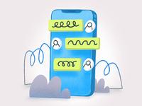 iPhone Chat Illustration