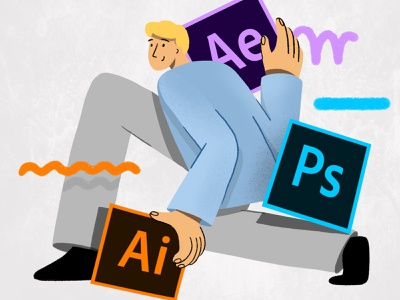Creative Cloud illustration creative cloud after effects illustrator photoshop adobe 2d charachter illustration