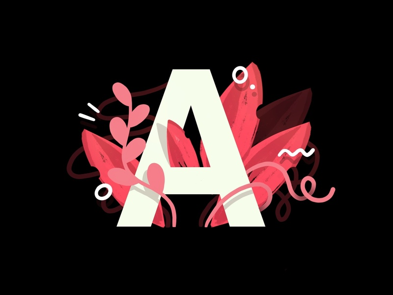 A Is For Airbnb web pattern draw drawing landing page darkcube business branding grow plants ui vector lettering art logo rental app airbnb custom design charachter 2d digitalart illustration