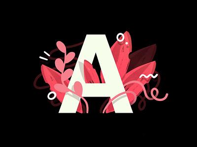 A Is For Airbnb web pattern draw drawing landing page darkcube business branding grow plants ui vector lettering art logo rental app airbnb custom design charachter 2d digitalart illustration
