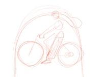 Sketch bicycle