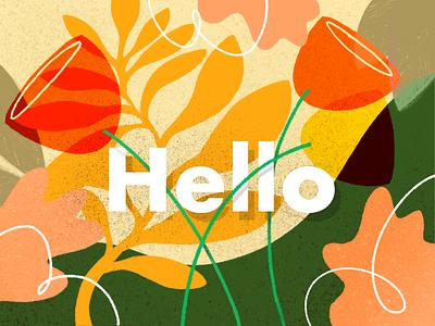 Hello Autumn Illustration pattern design drawing web digitalart branding landing page design darkcube charachter 2d illustration