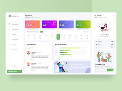 Review webapp dashboard app design app