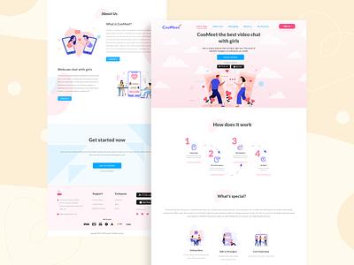 CoolMeet landing page redesign web development redesign landing page website concept website design website