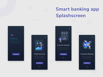 Banking app splashscreen splash page onboarding ux ui splashscreen onboarding ui onboarding screens app design app