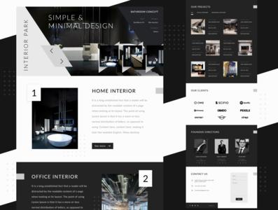 Interior web page design concept