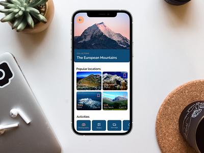 Travel app travelling product design ios interaction design app android uxui ux ui design