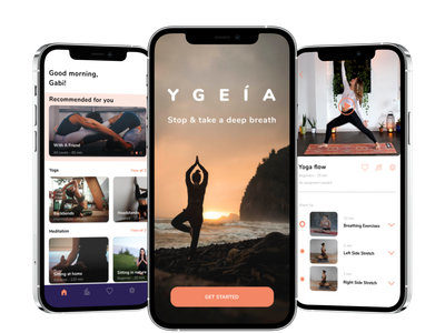 Wellbeing app meditation yoga wellbeing product design ios interaction design app android uxui ux ui design