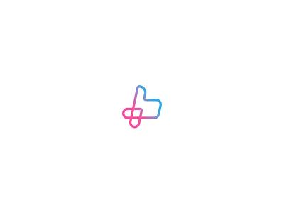 Pluslike thumb up like logo