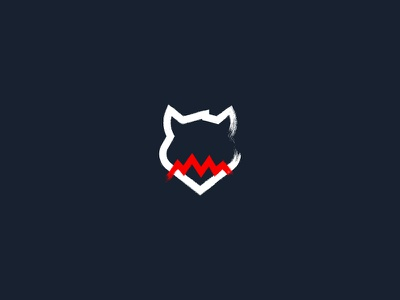 the Hound sign logo wolf dog hound