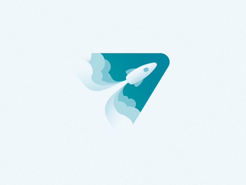 Rocket in Space startup start rocket space cosmos icon sign design logotype logo