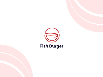 Fish Burger  - Minimalist Logo Design for Restaurant logo design minimalist logo logodesign idenity branding restaurant logo restaurant burger fish brand design geometry minimalism logo mark