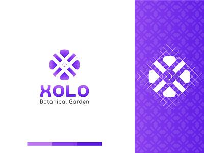 Xolo   - X Shape Modern Logo Design for Botanical Company logos modern logo idenity logodesign branding letter nature botany flower x brand design geometry minimalism logo mark