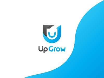 UpGrow   - U Shape Modern Logo Design for Investment Company logos branding idenity logodesign letter lettermark u brand design geometry modern logo minimalist logo minimalism logo mark