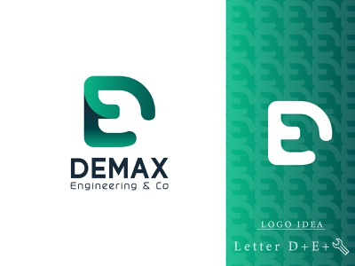 Engineering Logo - Demax  Negative Space Logo Design idenity branding modern logo negative space logo negative space engineering de e d letters brand design geometry minimalism logo mark