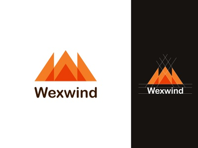 W Letter Logo -  WexWind Minimalist Logo Design icon letter minimal minimalist logo mark logo modern logo minimalism geometry design brand mountain branding idenity logodesign logos logo design