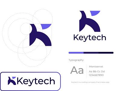Modern Logo - Keytech Modern Logo Design for Tech Company k letter logo key logo logo colorful modern minimal logos logotype logodesign branding logo design branding branding design visual identity minimalist logo modern logo business logo abstract logo vector logo design icon design