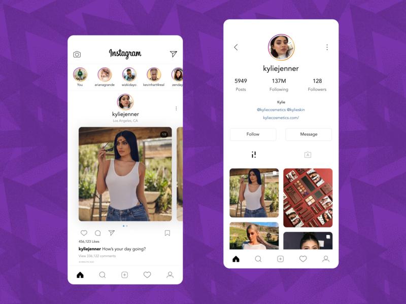 Instagram Mobile App Redesign Concept