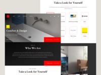 Interior Design & Architecture Website Concept