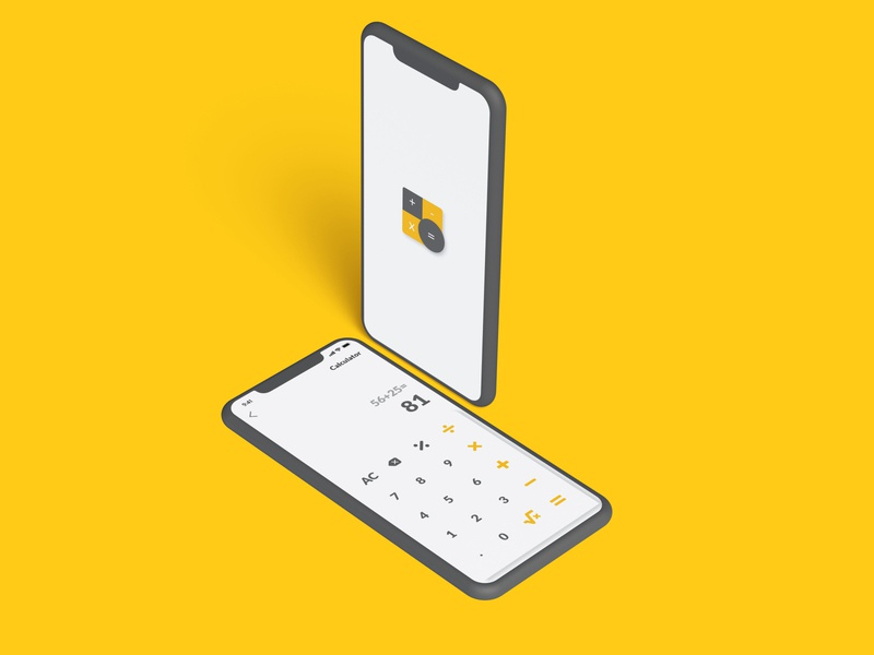 Calclator minimal app icon ui ux dribbble illustration graphic  design design daily ui dailyui
