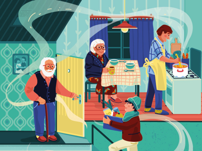 Challenge of volunteering challenge lockdown volunteering 2d people colourful editorial illustration