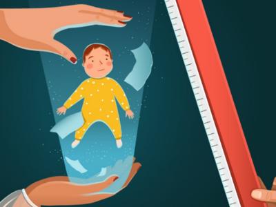 Do we owe our parents? vector light hands child parents