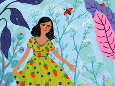 Summer vibes lithuania summer colorful cesnauskaite illustrator procreate
