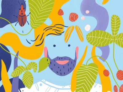 Abstract freelance illustrator cesnauskaite procreate summer
