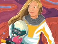 Adrija Skudutyte colorful illustrator vector brave motorcycle illustration woman