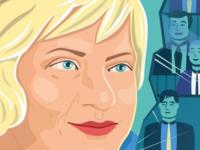 Ginte B. Damusyte-Damusis freelance face 2d politics men book first woman nato woman ambassador illustrator vector portrait