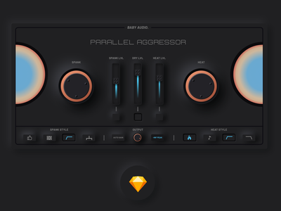 Parallel Aggressor by Baby Audio UI Duplicate neumorphic sketch aggressor parallel