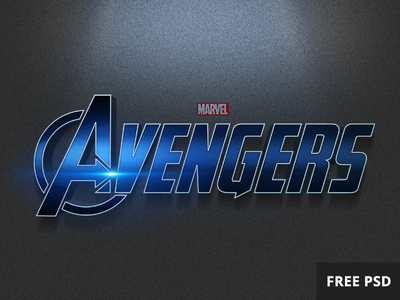 Free Avengers PSD text style style text psd free avengers