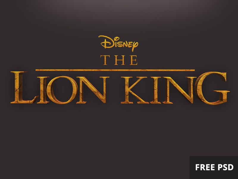 Free Lion King Psd Text Style By Kenan Yigitoglu On Dribbble