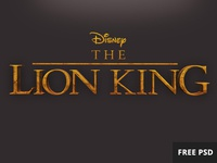 Free Lion King PSD text style lion king text style psd free
