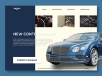 Bentley Website Product Page