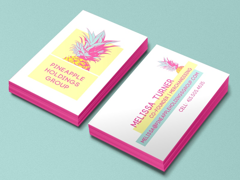 Pineapple Holdings Group Branding and Business Card
