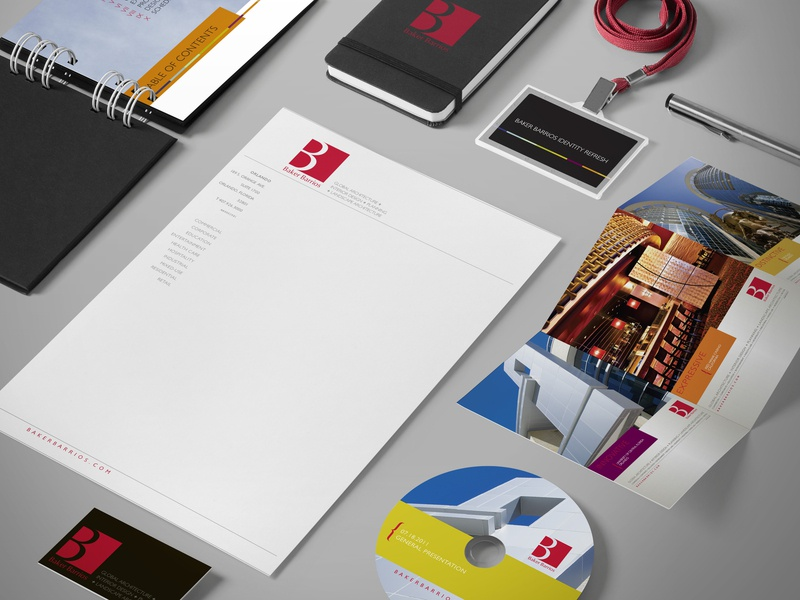 Baker Barrios Architecture, Branding Package