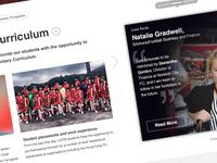 UCFB homepage detail