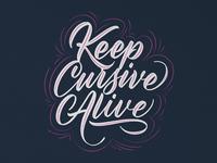Keep cursive alive