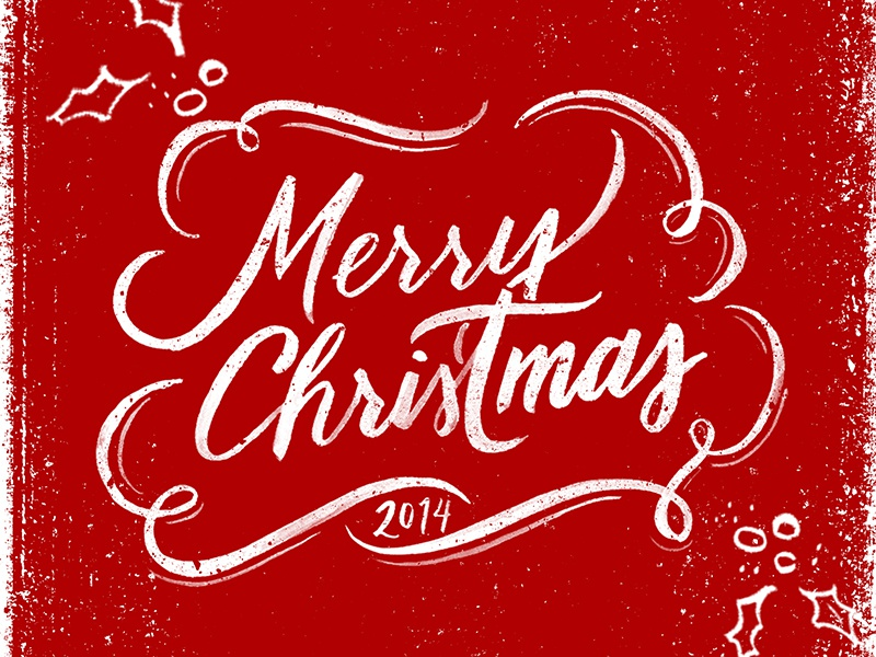 Merry Christmas 2014 christmas brush lettering hand lettering holidays merry texture