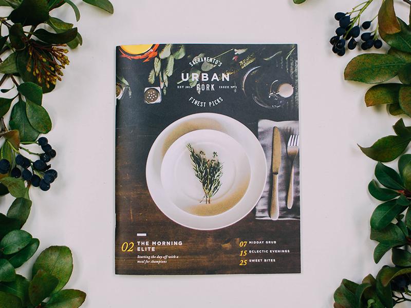 Urban Fork Magazine editorial magazine layout grid food sacramento