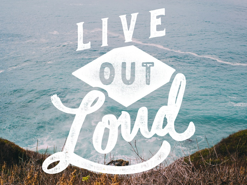 LOL handlettering lettering drawntype loud beach ocean