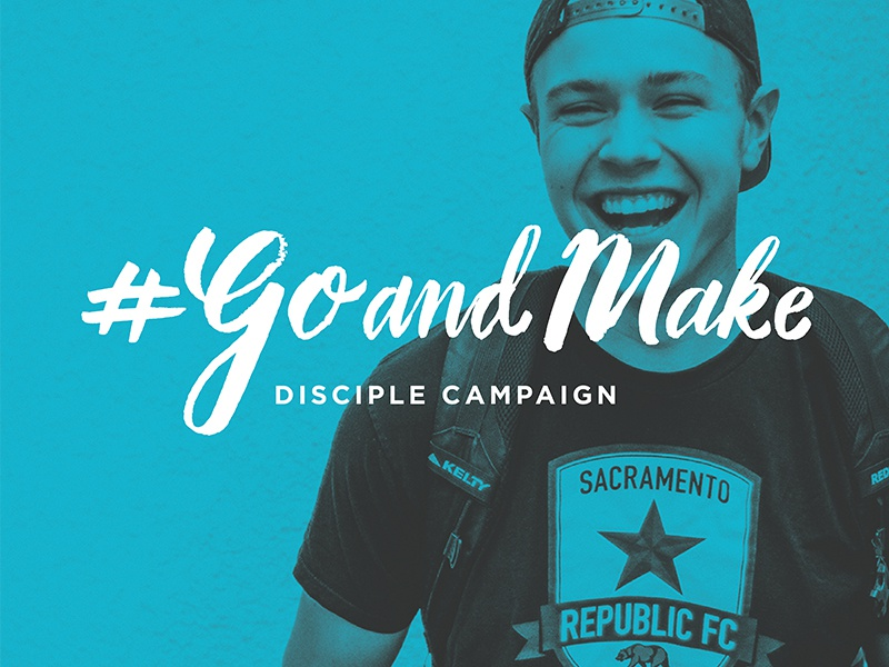 Go and Make campaign hashtag campaign hand lettering brush lettering lettering discipleship