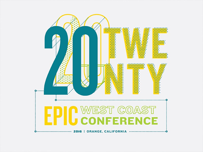 Epic Conference Shirt Final screen print dynamic 2020 dimensional 3d conference epic