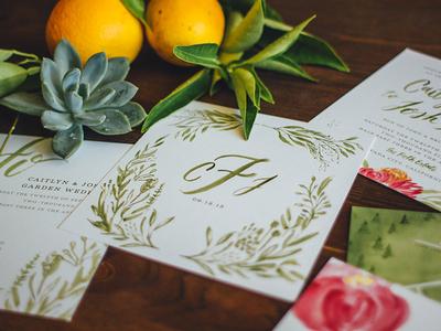 C + J Wedding Invite